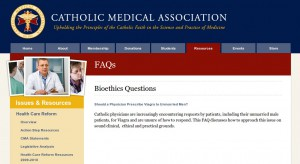 Catholic Medical Association Bioethics FAQ