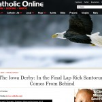 Catholic Online's Santorum headline