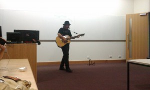 Dave singing at #bcc2011