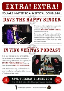 In Vino Veritas LIVE/Dave The Happy Singer poster by Faster Pussycat