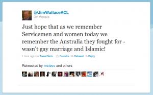 @JimWallaceACL's ANZAC day Tweet