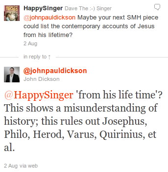 John Dickson on Josephus