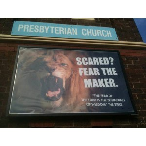 Christian lion poster