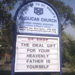 St Philip&#039;s Anglican: Punning for Jesus